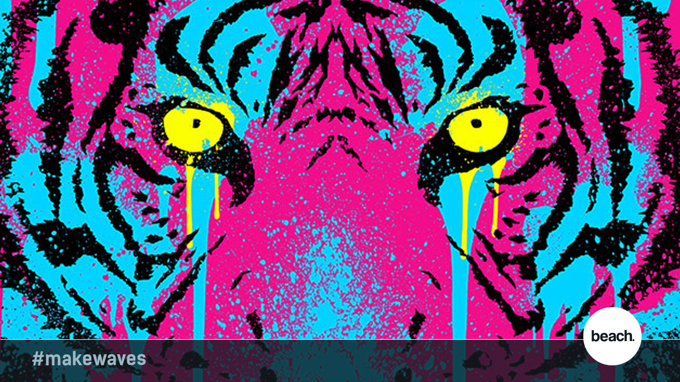 CMYK colour tiger graphic