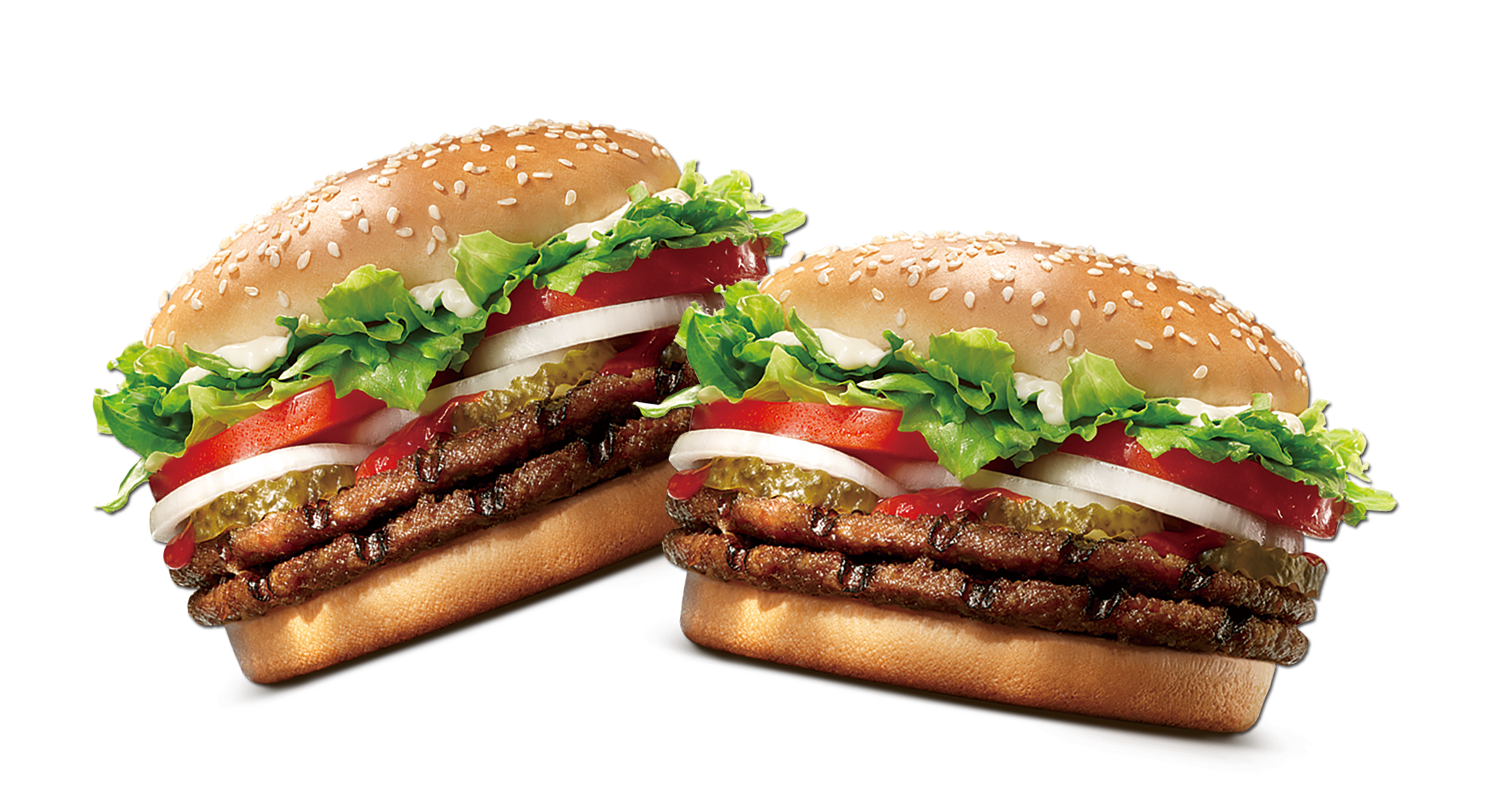 image of 2 fresh burgers