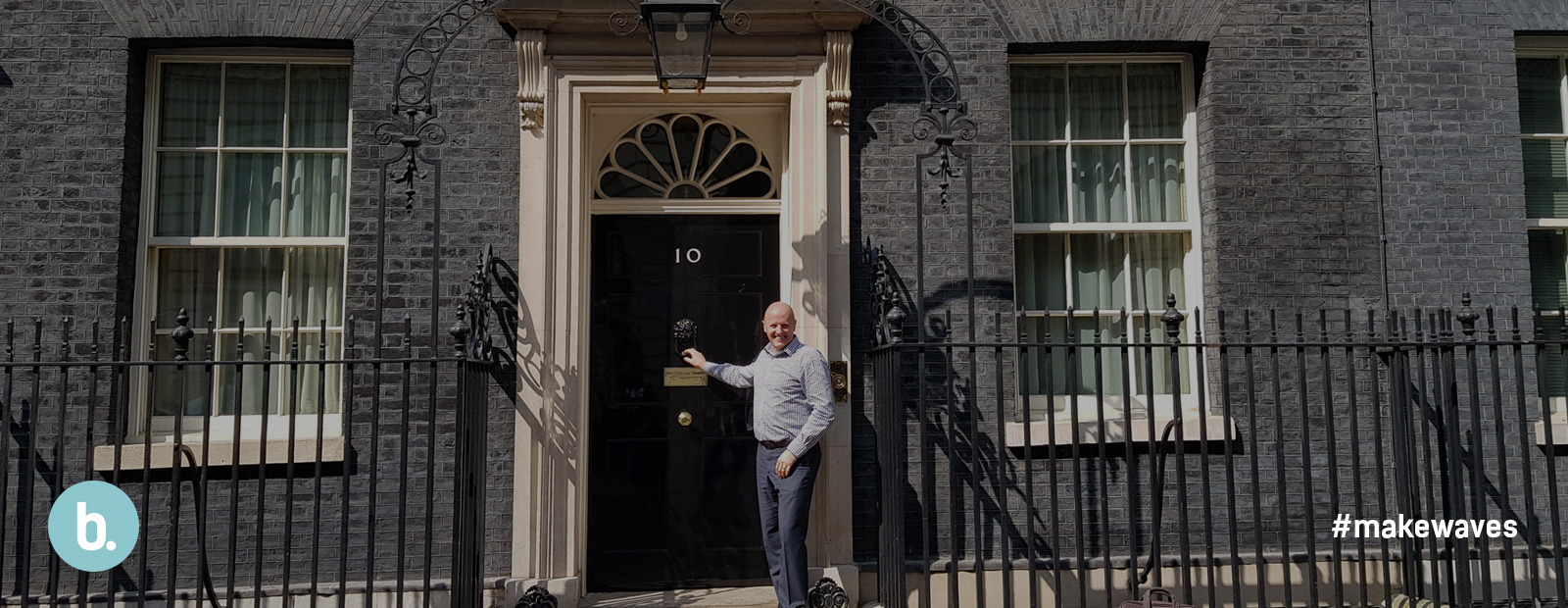 image of Steve Bishop outside 10 Downing Street