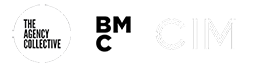 The Agency Collective, BMC and CIM logos